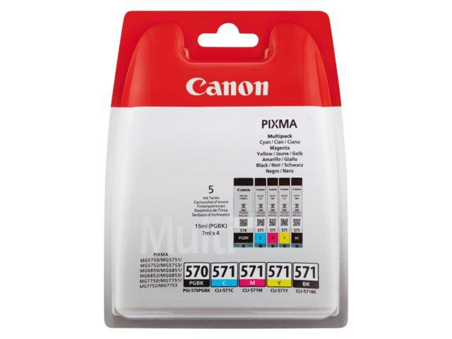 Canon inktcartridge multipak PGI-570 CLI-571 5st.