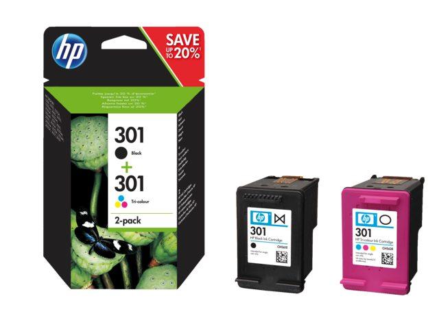 HP 301 inktcartridge zwart en kleur N9J72AE