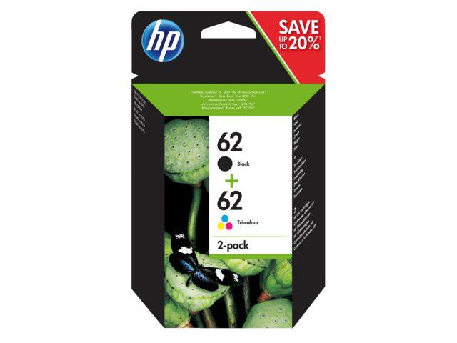 HP inktcartridges 62 zwart + kleur