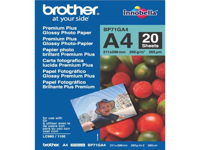 Inkjetpapier Brother Bp-71 A4 Glans 260gr