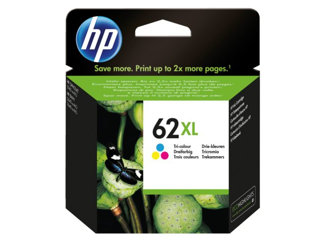 HP 62XL inktcartridge C2P07AE kleur