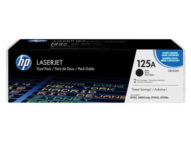 Tonercartridge HP 125A CB540AD zwart 2.2k dubbelverpakking