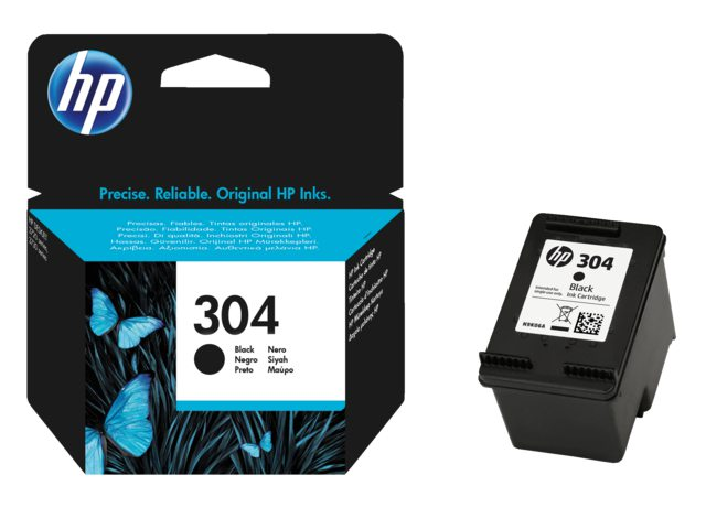 HP 304 zwarte cartridge N9K06AE