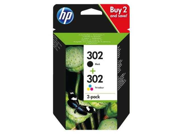 HP inktcartridges 302 zwart + kleur