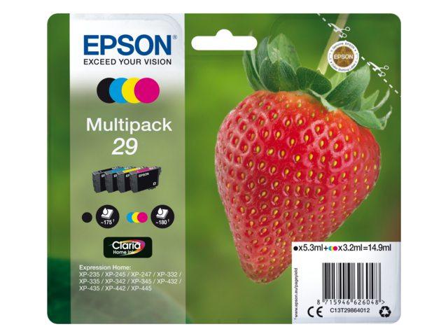 Epson inktcartridge 29 zwart +3 kleuren T2986