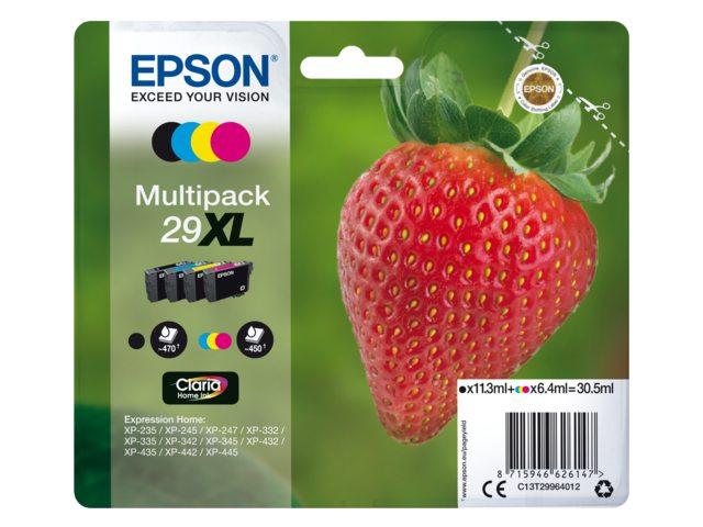 Epson inktcartridge 29XL zwart + 3 kleuren T2996