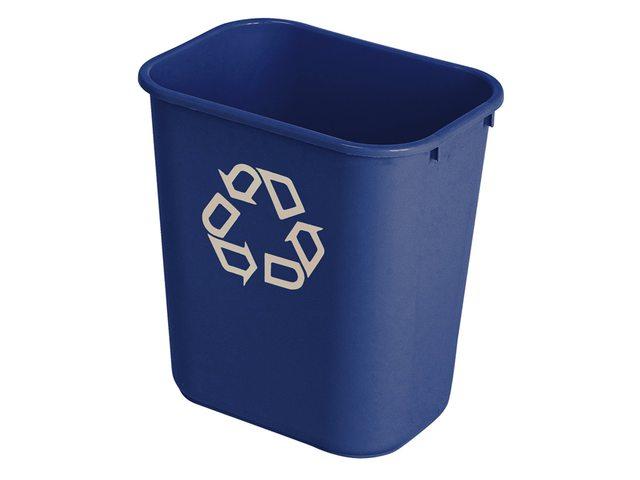 Afvalbak Vierkant Blauw 26.6liter