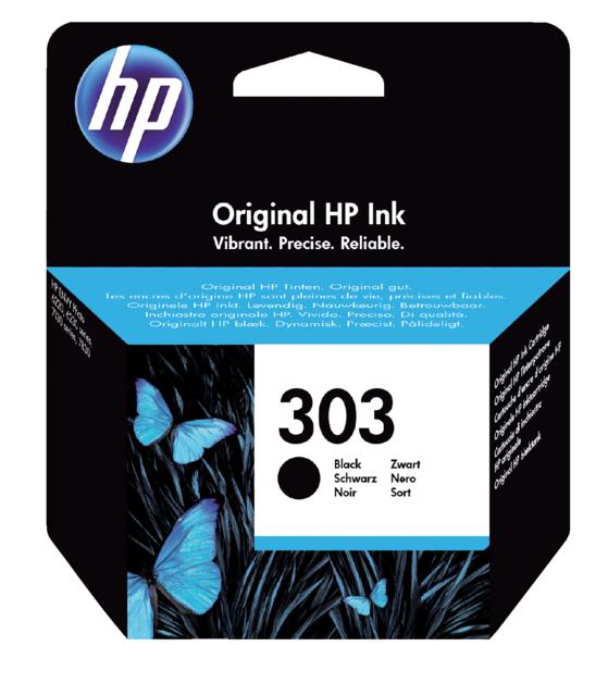 HP 303 zwart inktcartridge T6N02AE