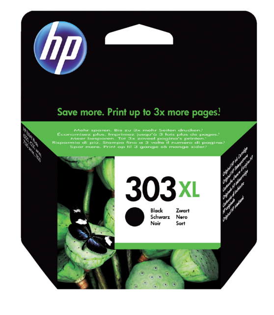 HP 303 XL zwart inktcartridge T6N04AE