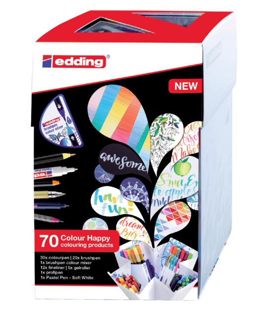 Brushpen edding 69+1 colour happy ass