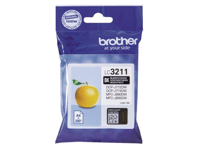 Brother LC-3211 zwart inktcartridge