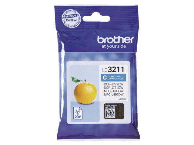 Brother LC-3211 blauw inktcartridge