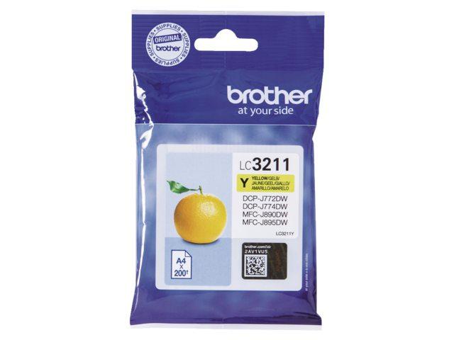 Brother LC-3211 geel inktcartridge