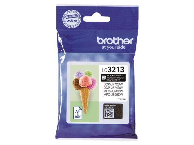 Brother LC-3213 zwart HC inktcartridge
