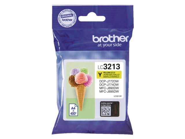 Brother LC-3213 geel HC inktcartridge