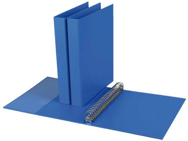 Ringband Quantore 23rings A4 Pp 27mm D-mech Blauw