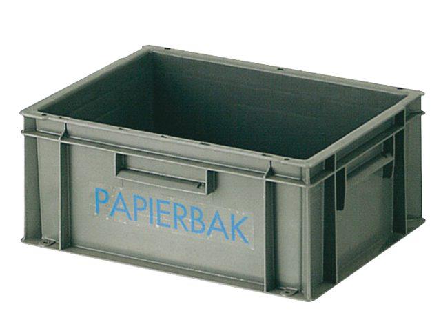 Papierverzamelbak Kunststof 40x30x17.5cm Grijs