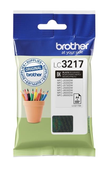 Brother LC-3217 zwart inktcartridge