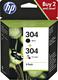 HP 304 duopak inktcartridge zwart en kleur 3JB05AE