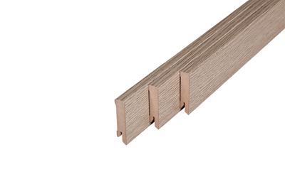 122 MDF Muurplint Blonde Oak (15 x 60 mm. Lengte: 240 cm)