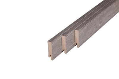 145 MDF Muurplint Grey Oak (15 x 60 mm. Lengte: 240 cm)
