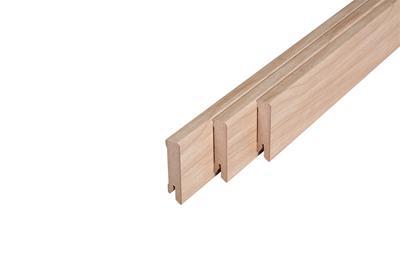 162 MDF Muurplint New England Oak (15 x 60 mm. Lengte: 240 cm)