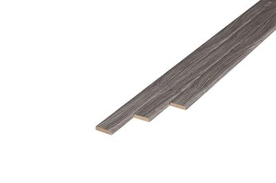 145 Plakplint Grey Oak (5 x 24 mm. Lengte: 240 cm)