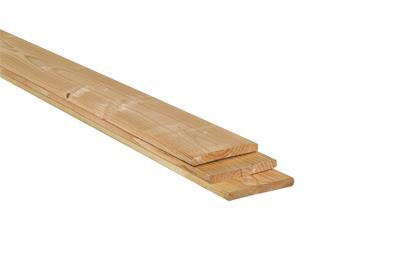 Plank lariks/douglas geschaafd en  onbehandeld (400 cm)