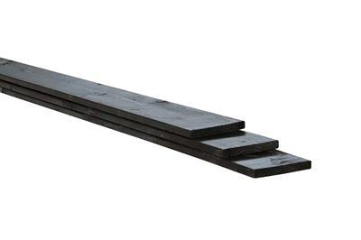 Plank rustiek zwart (vuren geschaafd en Celfix geimpregneerd) (180 x 14,5 cm)