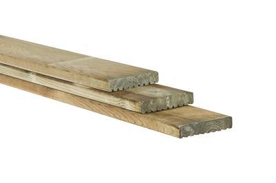 Vlonderplank  geschaafd en Celfix geimpregneerd (450 cm)