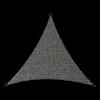 Schaduwdoek driehoek zwart 3,6 meter