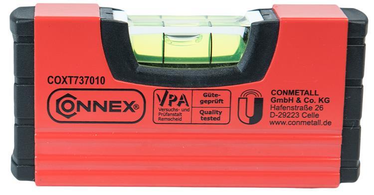 CONNEX Mini-waterpas (magnetisch 10cm)