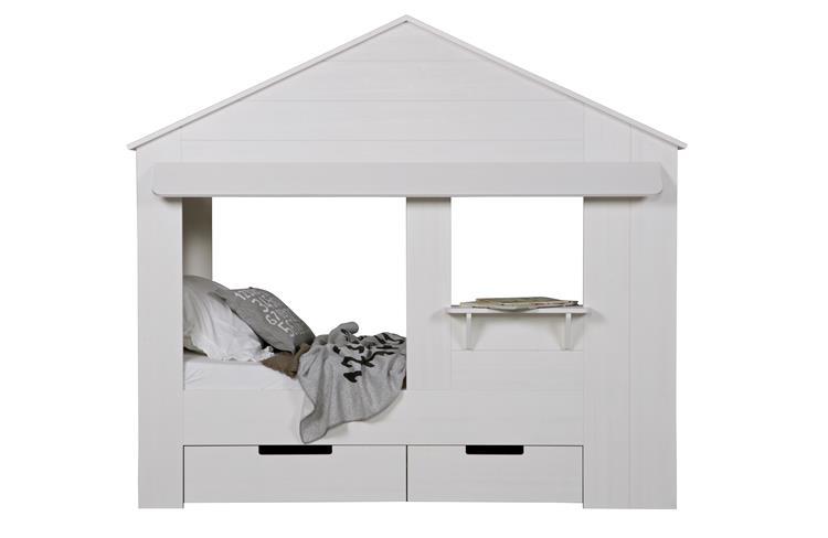 Huisie Bedstee Wit, Excl Bedladen [fsc]