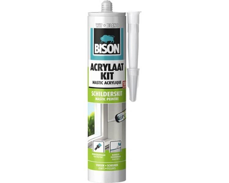 Bison acrylaatkit wit (310 ml)