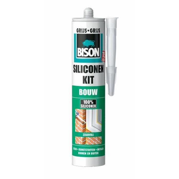 Bison siliconenkit (bouw-gr 310 ml)
