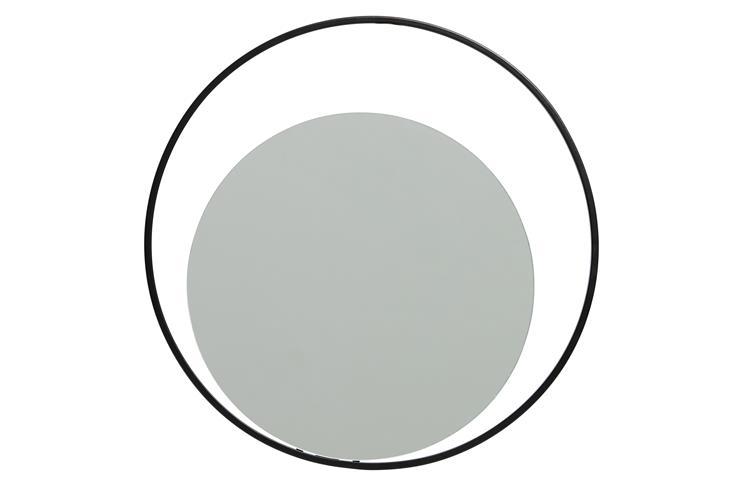 Luella Spiegel Rond Metaal Zwart