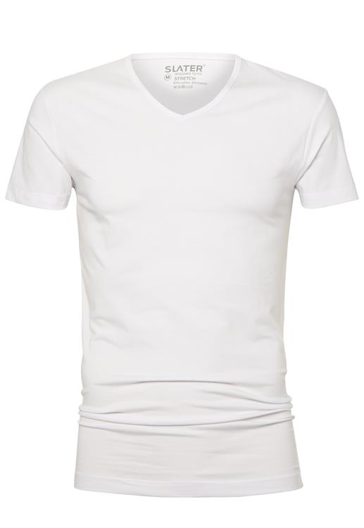 Slater T-Shirt V-neck Stretch 2 Pack