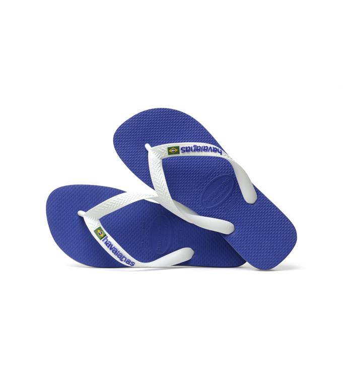 Havaianas Brasil Logo Marine Blue Slippers