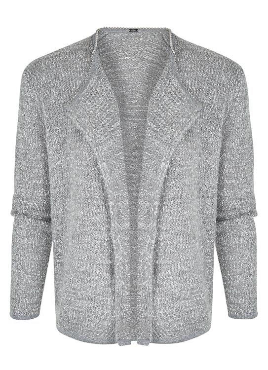 Gustav Cardigan Steel Grey
