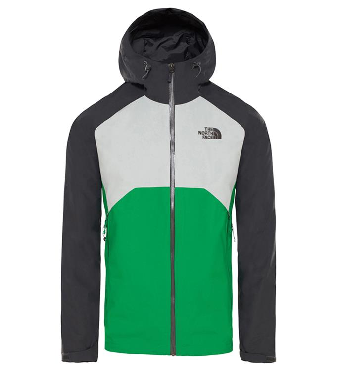 The North Face M STRATOS JACKET MID GRY/FIERY R