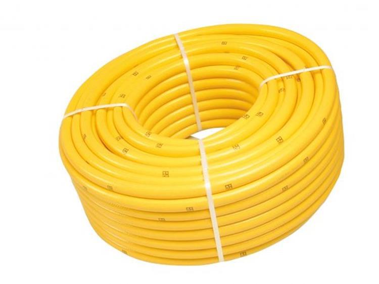 """Getricoteerde gele slang, high twist resistant """"1/2""""""""  -  25 M"""""""