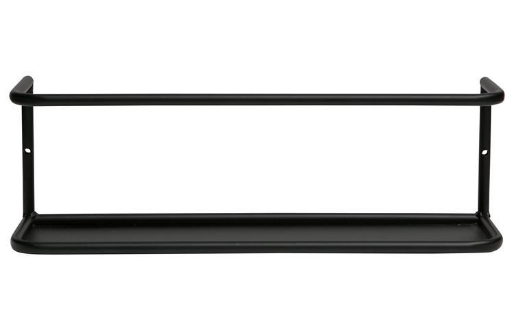 Myrthe Wandplank L Zwart 40cm