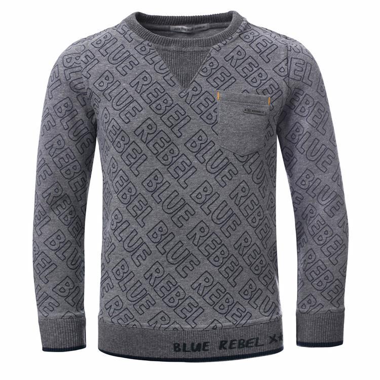 Blue Rebel - sweater - Grey melange - dudes
