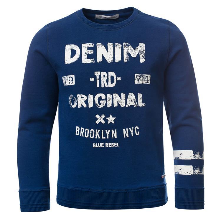 Blue Rebel - sweater - Deep blue - dudes