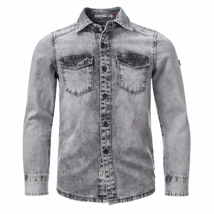 Blue Rebel - shirt - Grey - dudes