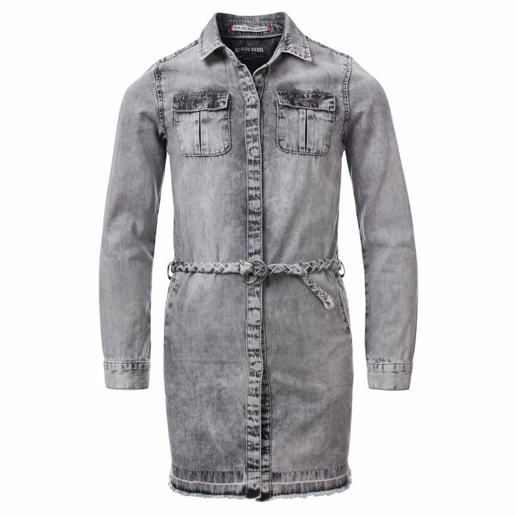 Blue Rebel - denim tunic - Grey - betties