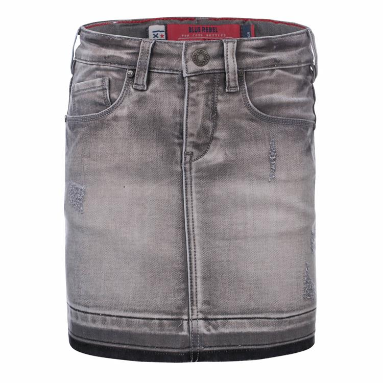 Blue Rebel Jaydee - mini skirt - Grey wash - betties