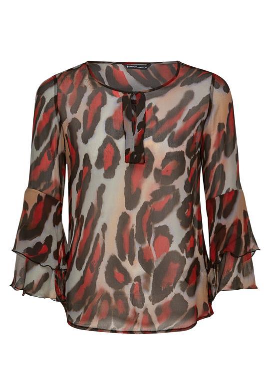 Summum Blouse LS leopard