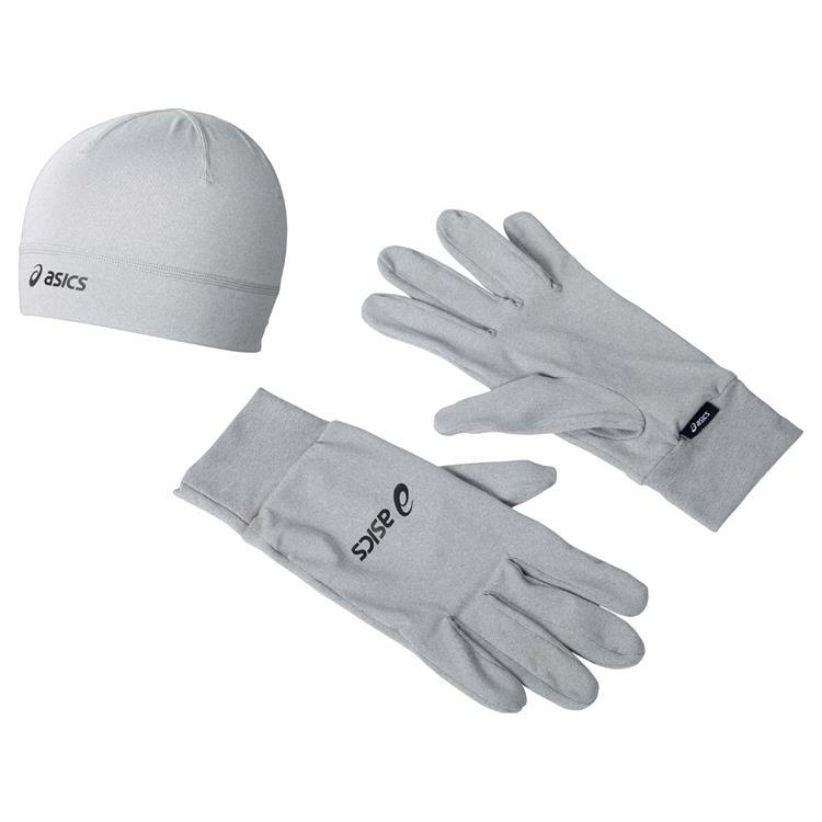 Asics Hardloopset Handschoenen + Muts