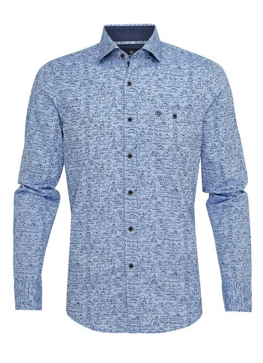 Fellows Overhemd Print